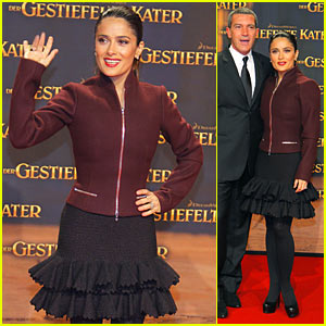 Salma Hayek: Germany in Boots!
