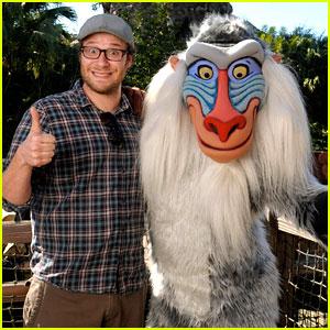 Seth Rogen Meets Rafiki at Disney World!