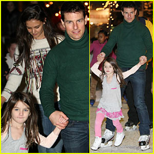 Suri Cruise: Ice Skating with Tom Cruise &#038; Katie Holmes!