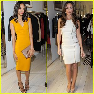 Zoe Saldana & Minka Kelly: Michael Kors Boutique Opening!