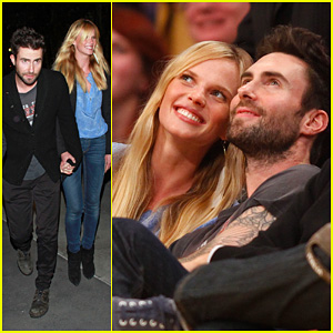 Adam Levine & Anne V: Lakers Lovers!