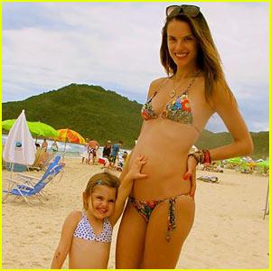 Alessandra Ambrosio: Bikini Baby Bump!
