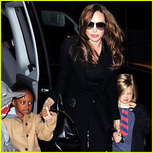 Angelina Jolie: Movies with the Kids!