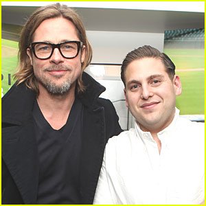 Brad Pitt: 'Moneyball' Screening with Jonah Hill!