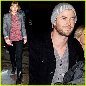 Chris Hemsworth & Elsa Pataky Land At LAX!