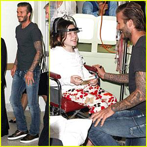David Beckham: Royal Melbourne Children's Hospital Visitor!