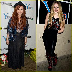 Demi Lovato & Avril Lavigne: Y100 Jingle Ball!
