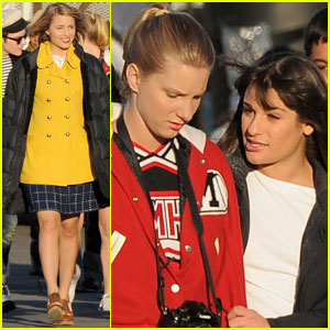 Dianna Agron & Lea Michele: 'Glee' Goes 'Grease'!