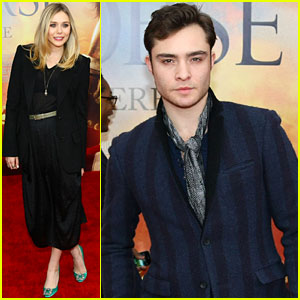 Elizabeth Olsen: 'War Horse' Premiere with Ed Westwick!