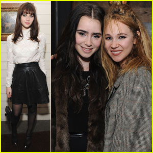 Felicity Jones & Lily Collins: Bulgari Holiday Party!