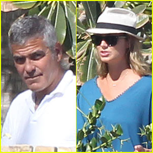 George Clooney: Mexico with Stacy Keibler!