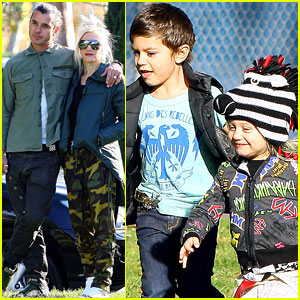 Gwen Stefani & Gavin Rossdale: Birthday Party with the Boys!