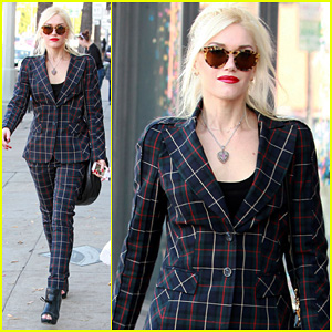 Gwen Stefani: Plaid Lady in West Hollywood!