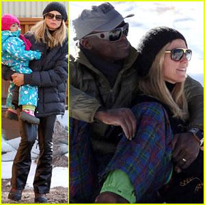 Heidi Klum & Seal: Christmas Ski Vacation with the Kids!