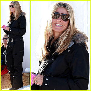Heidi Klum Hits the Ski Slopes!