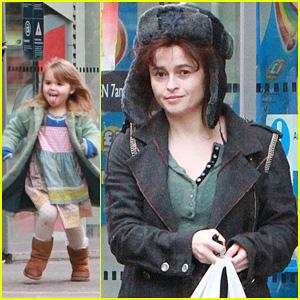 Helena Bonham Carter: Tesco Stop with Nell!