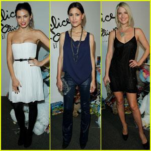 Jenna Dewan & Julia Jones: Alice + Olivia Fashion Show!
