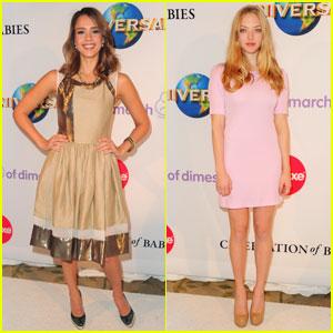 Jessica Alba & Amanda Seyfried: March of Dimes Luncheon!