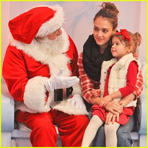 Jessica Alba: Honor Meets Santa!