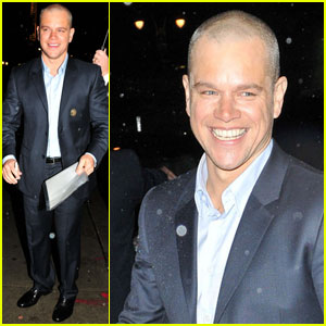 Matt Damon Drops by 'Late Show With Letterman'