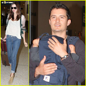 Miranda Kerr & Orlando Bloom: Home for the Holidays!