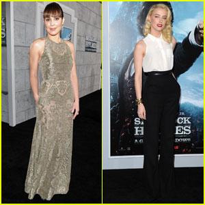 Noomi Rapace & Amber Heard: 'Sherlock Holmes 2' Premiere!