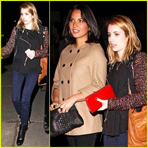 Olivia Munn & Emma Roberts Wait at the Valet