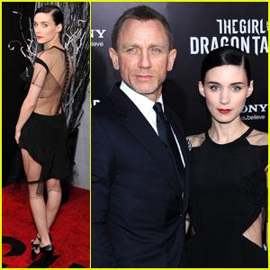 Daniel Craig & Rooney Mara Premiere 'Dragon Tattoo' in NYC