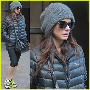 Sandra Bullock 'Very Happy Being a Mom'