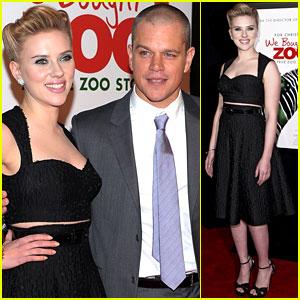 Scarlett Johansson & Matt Damon: 'We Bought A Zoo' Premiere!