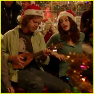 Emmy Rossum: 'Shameless' Christmas Carol!