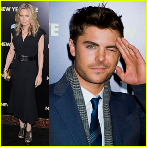 Zac Efron & Michelle Pfeiffer: 'New Year's Eve' NYC Premiere!