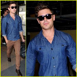 Zac Efron Returns to LA!