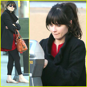 Zooey Deschanel Feeds the Meter