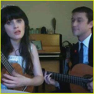 Zooey Deschanel & Joseph Gordon-Levitt Sing Together - VIDEO