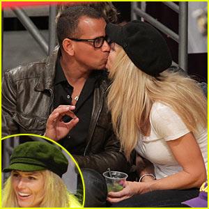Alex Rodriguez & Torrie Wilson: Kissing Couple