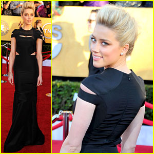 Amber Heard - SAG Awards 2012 Red Carpet