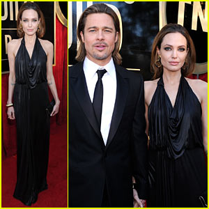 Angelina Jolie - SAG Awards 2012 with Brad Pitt!
