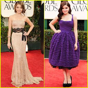Sarah Hyland & Ariel Winter - Golden Globes 2012 Red Carpet