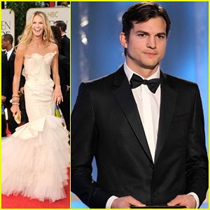 Ashton Kutcher & Elle Macpherson: Golden Globes 2012 Presenters
