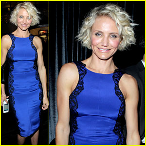 Cameron Diaz: Cropped Wavy Do at Golden Globes Party!
