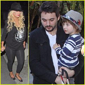 Christina Aguilera & Matt Rutler: 'Immortal World Tour' with Max!