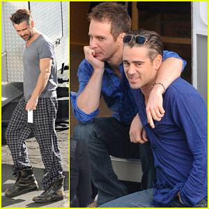Colin Farrell: Pajamas on 'Seven Psychopaths' Set!