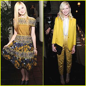 Kirsten Dunst & Elle Fanning: Rodarte Dinner!
