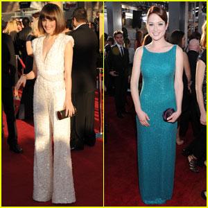 Rose Byrne & Ellie Kemper - SAG Awards 2012 Red Carpet