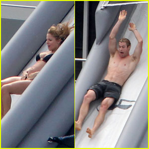 Chris Hemsworth & Elsa Pataky: Sliding in St. Barts!