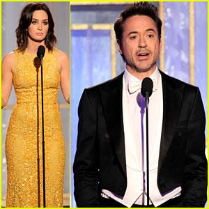 Emily Blunt & Robert Downey Jr Present Golden Globes!