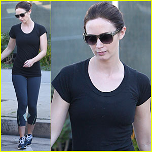 Emily Blunt Gets Back to the Gym