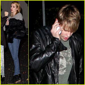 Emma Roberts & Chord Overstreet: Date Night!