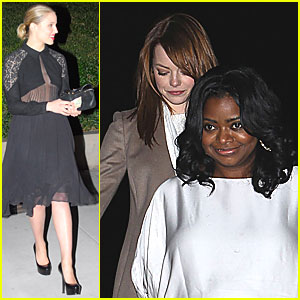 Dianna Agron & Emma Stone: Pre-Golden Globes Party!